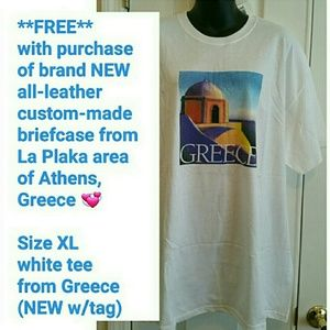 Vintage Bags - 🌟HOST PICK🌟 NEW Greece Leather briefcase & Tee!